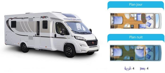 camping car profil 4 places location de camping cars sur motorhome rent. Black Bedroom Furniture Sets. Home Design Ideas